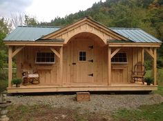 """Another way to see our 12' x 20' """"Gibraltar"""". Available as cabin kits (estimated assembly time - 2 people, 32 hours), DIY cabin floor plans, or a fully assembled cabin. http://jamaicacottageshop.com/shop/gibraltar-copy/ http://jamaicacottageshop.com/wp-content/uploads/pdfs/pdf12x20gibraltar.pdf"""