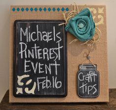 Michaels Hometalk Pinterest Event  #mpinterestparty