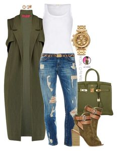 Untitled #2491 by stylebydnicole on Polyvore featuring American Vintage, Nixon, Allurez, Dolce&Gabbana and Hermès