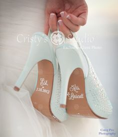 Yup! Adorbs! Hey, I found this really awesome Etsy listing at http://www.etsy.com/listing/127760581/wedding-shoe-decals