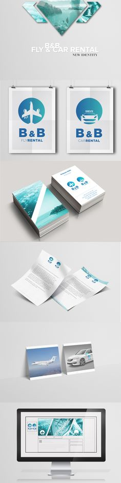 Branding B&B: Fly and car Rental on Behance