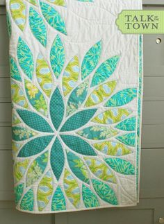 Sea Glass Quilt - PDF Pattern by Talk of the Town  Pattern is $10...love this and easy applique