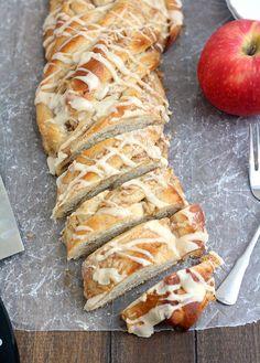 Sweet Glazed Apple-Cinnamon Yeast Bread by Tracey's Culinary Adventures @Tracey's Culinary Adventures I Tracey Wilhelmsen