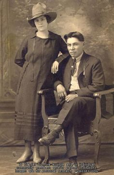 The Virtual Museum of Métis History and Culture -Delphine Oullette and husband