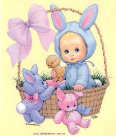 Pinned by sherry decker Vintage Easter, Vintage Christmas, Easter Wallpaper, Happy Easter Day, Easter Pictures, Easter Printables, Holly Hobbie, Easter Holidays, Cute Illustration