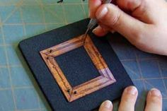 Faux Wood Grain Finish Tutorial & Technique for Cardstock by Kim Teasdale