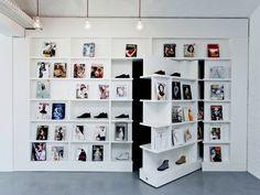 create this magazine exhibition secret door