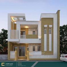 by Home Design 3 Storey House Design, Unique House Design, Bungalow House Design, Minimalist House Design, Modern House Facades, Modern Bungalow House, House Exteriors, House Outside Design, House Front Design