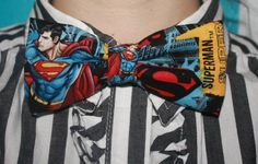 Adjustable Superman DC Comic Superhero Bow Tie via Etsy