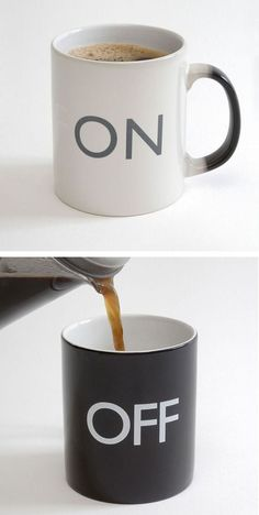 On Off Color-Changing Coffee Mug