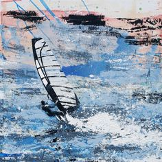Windsurfer - To Infinity and Beyond. Original Painting or Print Available.