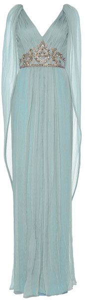 MARCHESA Love this: M'O Exclusive: Embroidered Chiffon Grecian Caftan @Lyst