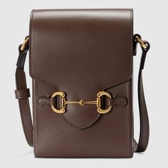 Brown Leather Crossbody Bag, Leather Bags, Gucci Gifts, Gucci Horsebit, Heritage Brands, Brown Fashion, Metallica, Shopping Bag, Equestrian