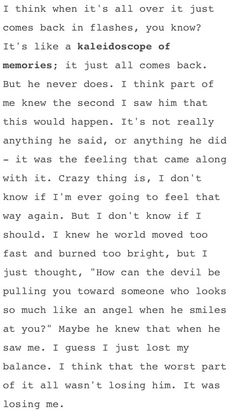 "Monologue at the beginning of the ""I Knew You Were Trouble"" video by Taylor Swift. It's haunting and real and I love it."