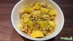 Lazacos-mangós bulgur 2 adag - NAGYON JÓ (100g hajdinával+pici curry) Potato Salad, Curry, Potatoes, Ethnic Recipes, Food, Bulgur, Curries, Potato, Essen