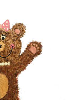 Friendly Bear Artwork     Canvas blockmount 297 x 420mm