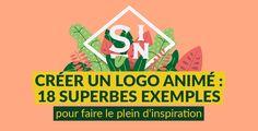 Composition complexe, typographie, flat, 3D,cette sélection offre un panorama d'exemples dont vous pourrez vous inspirer pour vous aussi créer un logo animé