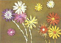 Image result for raffia flowers for craft