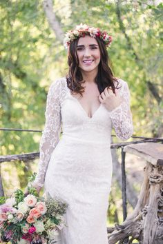 e596eb7bd Long Sleeved Lace Bridal Gown. Perfect for that boho bride Wedding Dress  Shopping, Arizona