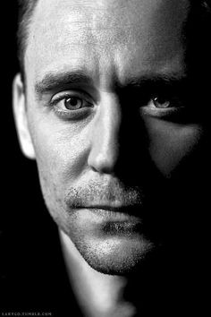 Tom Hiddleston beautiful in black and white. (Edit by Larygo, Tumblr)