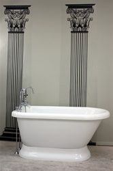 """HLFLPD56FPK 56"""" Hotel Collection Pedestal Tub & Faucet Pack  56"""" x 30.7"""" x 24.8"""" high  With Faucet, Drain and Supply Lines"""