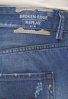 Replay GRACELLY - Boyfriend jeans - dark-blue denim - Zalando.nl