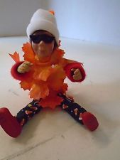 Byers Choice Kindle Halloween Leaf Boy Standing Sitting Flexible Masked