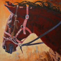 Artist Debbie Lincoln. Very nice equine painting.