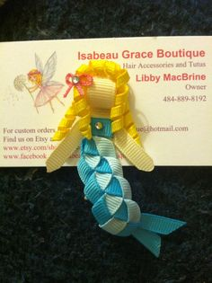 Ribbon Sculpture Mermaid Clip by IsabeauGrace on Etsy, $4.50