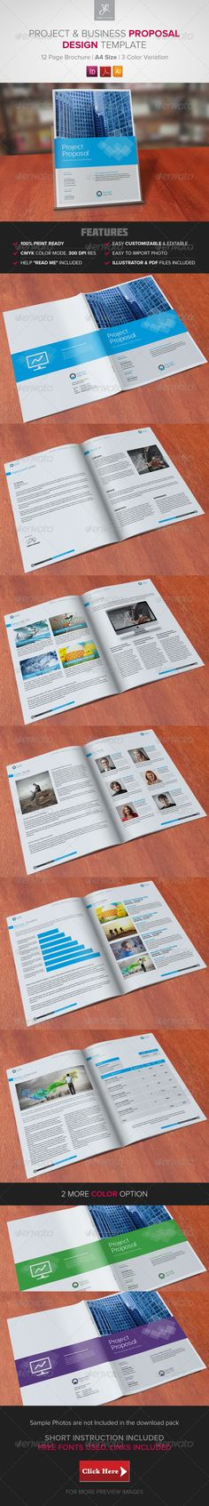 Proposal Template Proposal templates, Brochures and Invoice layout - business proposals samples