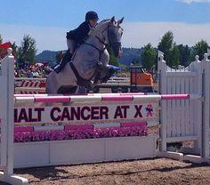 Kristi Nunnink and R-Star win CIC3star at Rebecca Farm. Halt Cancer at X. (via Eventing Nation)