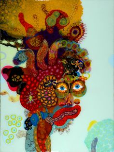BRUCE RILEY RESIN ART | devil eyed | mixed media on panel 2010