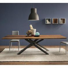 Shop the Pechino Dining Table at Perigold, home to the design world's best furnishings for every style and space. Counter Height Dining Table, Glass Dining Table, Solid Wood Dining Table, Extendable Dining Table, Dining Table In Kitchen, Dining Room, Table Design Bois, Dining Furniture, Dining Chairs