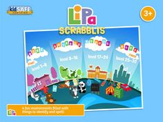 Lipa Scrabblis is a game which will inspire your child to begin learning at the earliest age:  • 	Develops basic reading and spelling skills  • 	Over 50 words from common child experience  • Kids Learn about rewards and achievement  • 	No in-apps or adverts  • Never-ending fun!