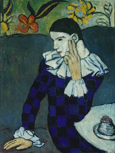 Seated Harlequin, 1901  Pablo Picasso (1881-1973)