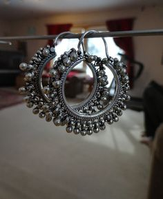 Latest Elegant Designer jewelry from India - Need to know about quality silver indian jewelry, indian artificial jewelry online, and hopi indian jewelry,. CLICK Visit link for more details Silver Jewellery Indian, Indian Jewellery Design, Indian Earrings, Silver Earrings, Silver Jewelry, Silver Ring, 925 Silver, Silver Necklaces, Sterling Silver