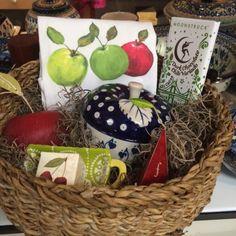 Apple themed gift basket