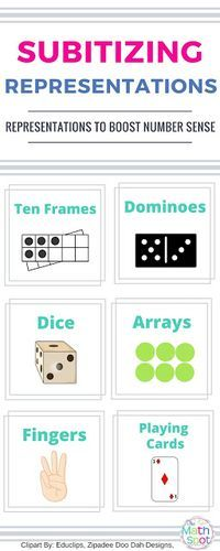 Subitizing activities for use with kindergarten and first grade students and beyond!