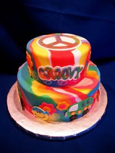 Hippie Party Food Ideas | Hippie Birthday Cake Ideas | 6.6.14 ...