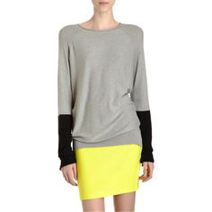 Wang colorblock pullover at Barney's co-op. Would look great with black leggings and boots for fall.