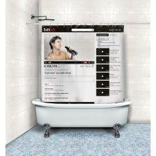 Cortina de Banheiro Online Bath por R$80,00 - Trekos & Cacarekos