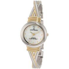 Reloj Anne Klein Diamantes acentuados de dos tonos