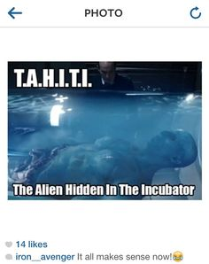 Agents of SHIELD. T.A.H.I.T.I. I don't know if this is serious or a joke......it is funny in a way
