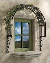 Design Toscano Thornbury Ornamental metal Garden Window Trellis: Set of Two Our attention-getting garden trellis adds the perfect European architectural accent as it dresses up and adds unexpected beauty to even a plain window! Arbors Trellis, Garden Trellis, Plant Trellis, Metal Trellis, Wall Trellis, Rose Trellis, Trellis Ideas, Vinyl Lattice Panels, Garden Windows