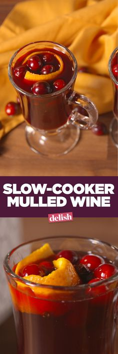 Slow-cooker mulled wine will convince you to always warm up your vino. Get the recipe on Delish.com.