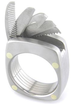 Titanium multitool ring with five tools - Boing Boing