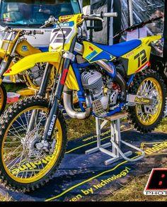 Steve Fisher's media statistics and analytics Suzuki Dirt Bikes, Mx Bikes, Motocross Bikes, Vintage Motocross, Cool Bikes, Motorcycle Dirt Bike, Motorcycle Design, Dirt Biking, Baby Bike