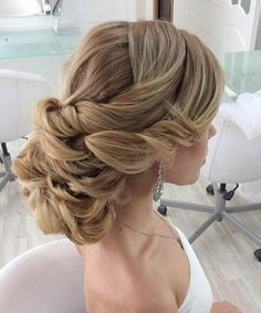 Heavy Low Updo Wedding Hairstyles 2015 – 2016