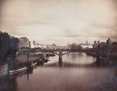 Gustave Le Gray (1820-1884) -Pont du Carrousel vu du pont Royal. Paris. 1859