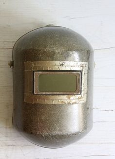 vintage industrial welders mask by wretchedshekels on Etsy---my dad has many of these